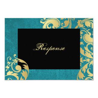 Respuesta floral RSVP del boda del reflejo del Invitación 8,9 X 12,7 Cm