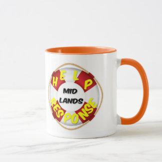 Respuesta Midlands de la ayuda de la taza