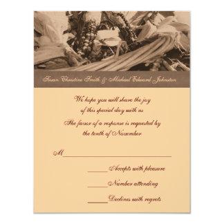 Respuesta RSVP del boda de la cesta del maíz indio Comunicado