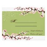 Respuesta RSVP del boda de la flor de cerezo de la Comunicado