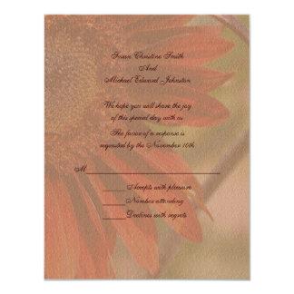 Respuesta RSVP del boda de la flor del girasol Comunicados Personalizados