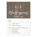 Respuesta rústica del boda de la corteza/tarjetas  invitacion personalizada