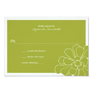 Respuesta suculenta del boda invitacion personalizada