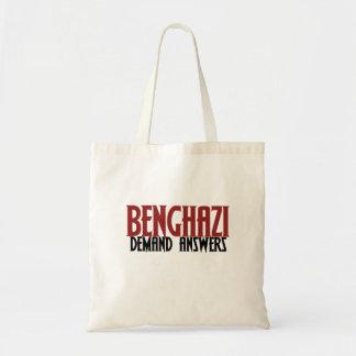 Respuestas de la demanda de Bengasi Bolsa