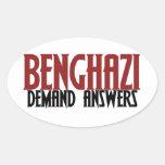 Respuestas de la demanda de Bengasi Calcomania Óval