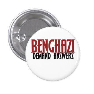 Respuestas de la demanda de Bengasi Pin Redondo De 1 Pulgada