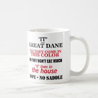 Respuestas que caminan de great dane tazas de café