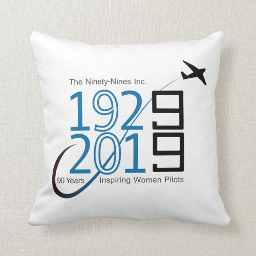 Rest after celebrating the 99s  90th Anniversary Throw Pillow