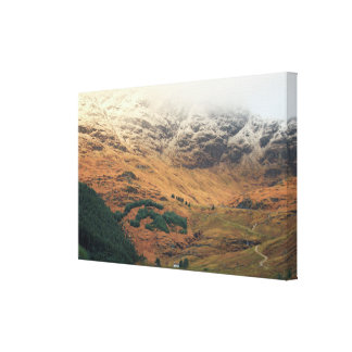 Rest and Be Thankful Scottish Highland Landscape Canvas Print
