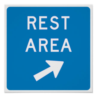 Rest Area Highway Sign Posters