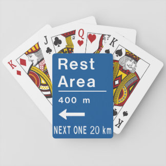 Rest Area Road Sign Playing Cards