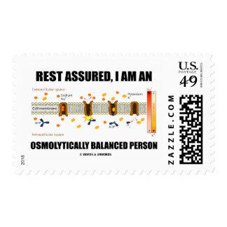Rest Assured I Am An Osmolytically Balanced Person Postage