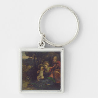 Rest During the Flight into Egypt, c.1510-12 (oil Keychain