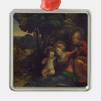 Rest During the Flight into Egypt, c.1510-12 (oil Metal Ornament
