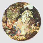 Rest During The Flight (Into Egypt) Classic Round Sticker