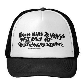 rest easy trucker hat