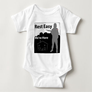 Rest Easy We're Here - Army T-shirt