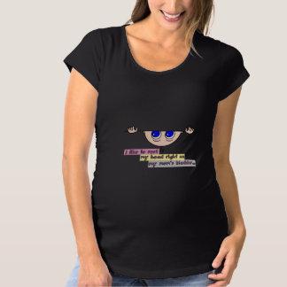 Rest head on mom's bladder (maternity) maternity T-Shirt