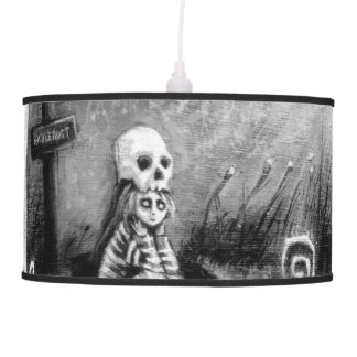rest in expectation hanging lamp
