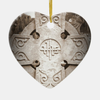 Rest in Peace Double-Sided Heart Ceramic Christmas Ornament