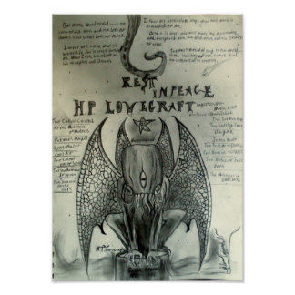 Rest in Peace H.P. Lovecraft Poster