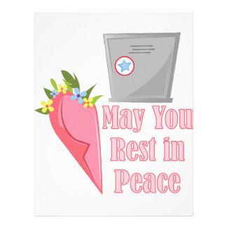 Rest In Peace Letterhead