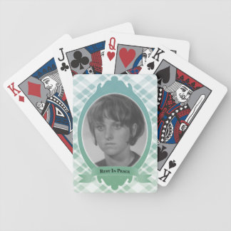 rest in peace memorial gift bicycle playing cards