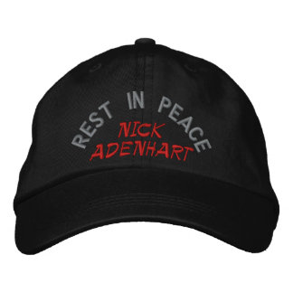 REST IN PEACE, NICK ADENHART EMBROIDERED BASEBALL HAT