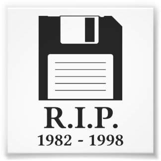 Rest in Peace RIP Floppy Disk Photo Print