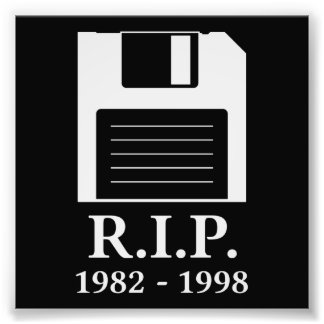 Rest in Peace RIP Floppy Disk Photo Art