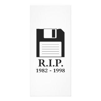Rest in Peace RIP Floppy Disk Custom Rack Card