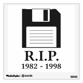 Rest in Peace RIP Floppy Disk Wall Sticker
