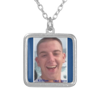 Rest in Peace Ryan Silver Plated Necklace