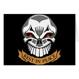 Rest In Peace Skull Biker T shirts Gifts Card