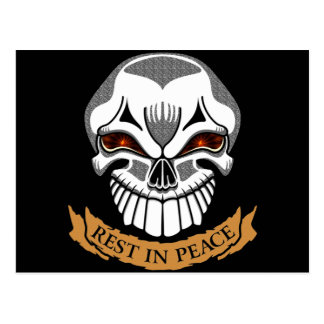Rest In Peace Skull Biker T shirts Gifts Postcards