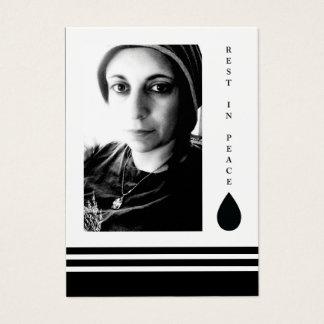 rest in peace tear drop business card