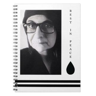 rest in peace tear drop notebook