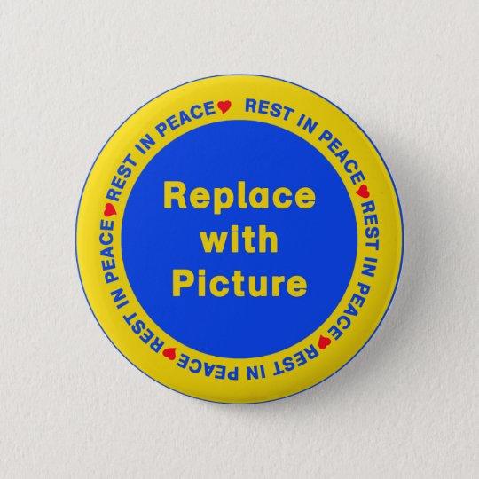 rest in peace template button zazzle com