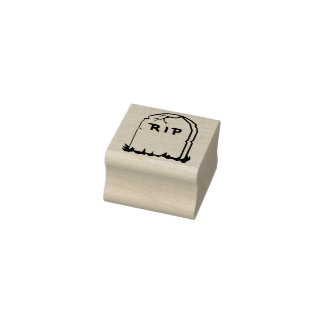 Rest in Peace tombstone illustration art stamp