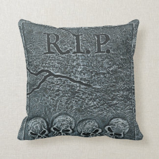 Rest in Peace, Tombstone Throw Pillow
