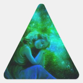Rest in Peaceful Sleep Triangle Sticker