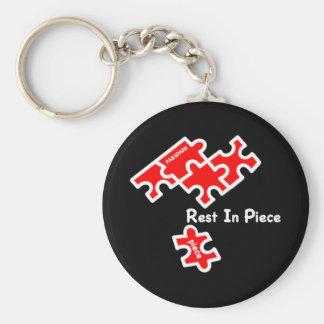 Rest In Piece Basic Round Button Keychain