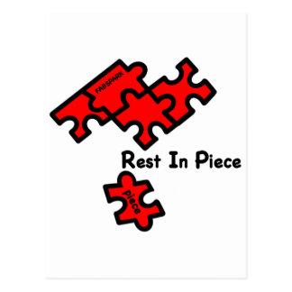 Rest In Piece Postcard