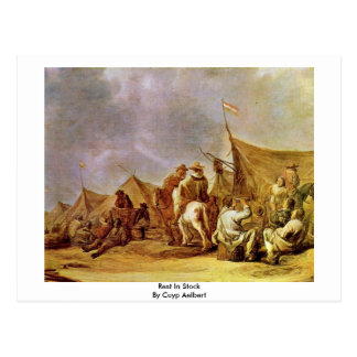 Rest In Stock By Cuyp Aelbert Postcard