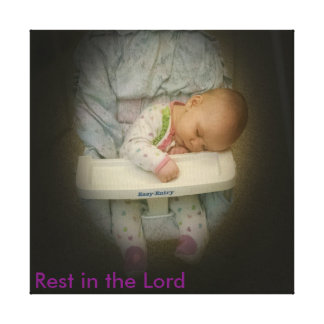 Rest in the Lord Canvas Canvas Print