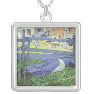 Rest in the Shade Square Pendant Necklace