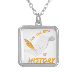 Rest Is History Square Pendant Necklace