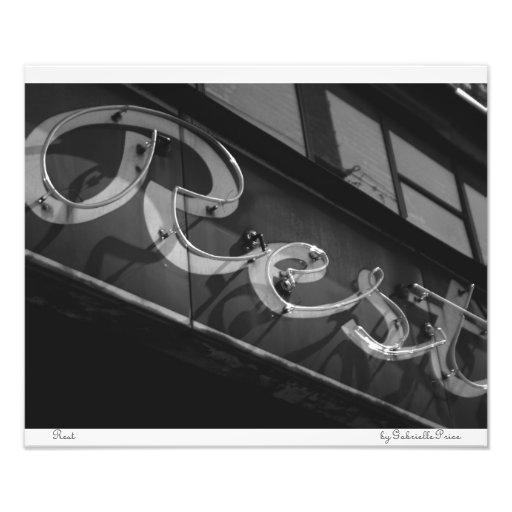 Rest - Neon Series Value Prints Photograph