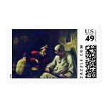 Rest Of Jugglers By Daumier Honoré Postage Stamp