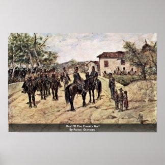 Rest Of The Cavalry Unit By Fattori Giovanni Posters